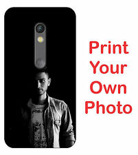 For Motorola Moto X Play Hard Matte Back Cover Print Your Own Custom Case