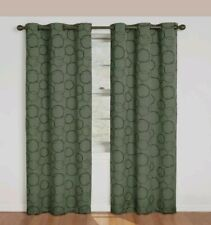 Eclipse Meridian Grommet Panel 42inX84in Geometric Weave Blackout Sage NEW -AT16