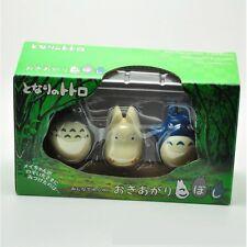 3pcs Set Studio Ghibli My Neighbor Totoro Tumbler Plastic Figure With Retail Box