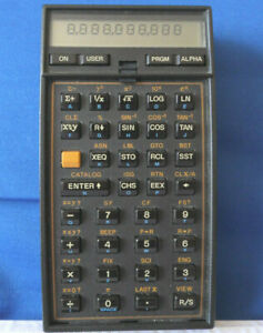 HP Hewlett Packard 41CV Calculator & Case + 2 Modules Has N Battery Holder NICE