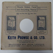 "78rpm 10"" card gramophone record sleeve / cover KEITH PROWSE & CO"