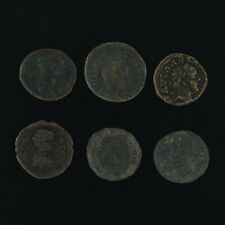 Mixed Ancient Coins Lot of 6 Figural Ancient Roman Artifacts