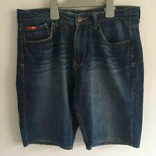 "Lee Cooper Mens Denim Shorts 34"" Waist Blue Straight Fit Cotton Bottoms"