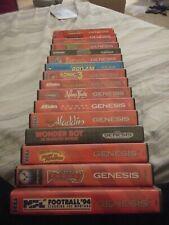 Sega Genesis games with manuals