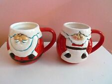 VINTAGE CHRISTMAS ~ MR. & MRS. SANTA CLAUS CANDY HOLDERS ~ CUPS or PLANTERS