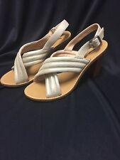 J.Crew NEW Metallic Marcie Sandals Gold Suede Size 8 $168 C1390 Sold Out!