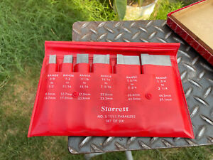 "L.S.Starrett  S154LZ Adjustable Parallels Set 3/8"" - 2-1/4"" Range Made In USA"
