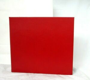 Graphic Image Photo Album XXLarge 15x13 Post Binder Clear Pkts Leather Red
