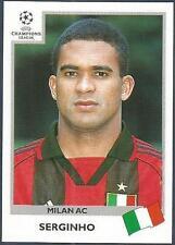 PANINI UEFA CHAMPIONS LEAGUE 1999-00- #296-AC MILAN-SERGINHO