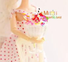 Food Dollhouse Miniature Handcraft Icecream sundae w/plastic cup for Doll