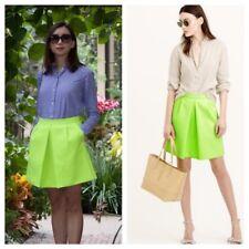J Crew Women Front Pleat Citrus Lemon Neon Mini Skirt NWT sample  RRP $113