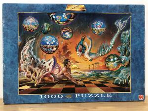 RARE Jumbo 2005 ENRIQUE NIETO Underwater Romance 1000 piece Gold FOIL Puzzle