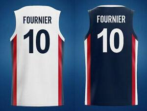 2021 Tokyo Evan Fournier #10 Rudy Gobert #27 Team France Basketball Jerseys