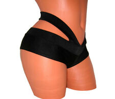 MINI BLACK SHORTS POLE FITNESS WEAR EXOTIC DANCING FESTIVE PERFORMANCE OUTFIT