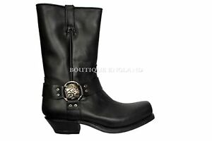 NEWROCK New Rock M.7965 Black Western Cowboy Gothic Biker Leather Boots Shoes