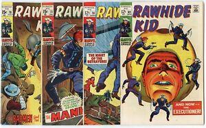 Rawhide Kid #69, 70, 73, 78, 79, 99, 116, 136  avg. FN 6.0  Marvel 1969  No Resv