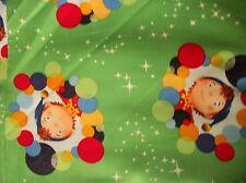 NODDY CIRCLES & STARS 100% COTTON FABRIC- FQ/QUILT FABRIC/CHRISTMAS PRINT