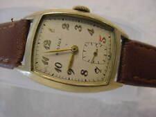 Vintage GOLD FD large antique Art Deco RIBAUX CURVEX mens watch