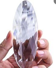 Crystal Angel Suncatcher H & D Clear Lamp Prisms Loquat Egg Shape Large Hanging