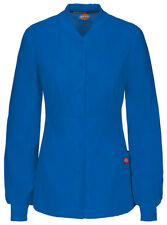 Dickies Women's New Long Sleeve Pocket Snap Front Warm Up Scrub Jacket. 85304A
