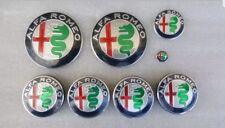 KIT COMPLETO 8 PZ logo stemma fregio ALFA ROMEO 147 156 159 166 MITO new design