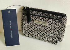 NEW! TOMMY HILFIGER BLACK / NATURAL COIN PURSE WALLET SALE