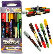 Marvel Guardians Of The Galaxy  5 Cosmic Scents Scented Gel Crayons - NEW in Box