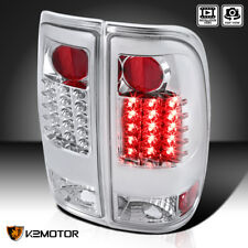 1997-2003 Ford F150 F250 LED Chrome Rear Brake Tail Lights PAIR Replacement