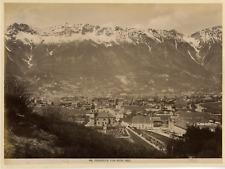 Autriche, Innsbruck vom Berg Isel Vintage albumen print.  Tirage albuminé  1