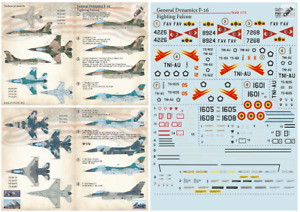 Print Scale 72-364 - 1/72 F-16 Fighting Falcon, wet dry decal for model aircraft