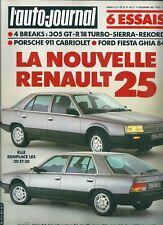 L'Auto Journal # 21 1983 Renault 25 305 R18 turbo Porsche 911 Ford Sierra Fiesta