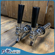 2 x Auto Close 90mm Long Shank Beer Tap, Home Brew