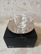NESPRESSO VIEW glass espresso cup and stainless steel saucer - New in box