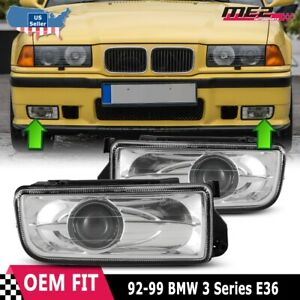 For BMW E36 M3 92-98 Factory Replacement Fit Projector Fog Lights Clear Lens