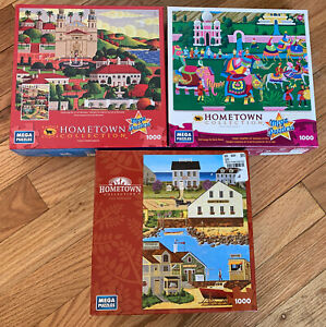 hometown collection Mega puzzle lot 1000 Piece Elephant Festival Spinmaker Week