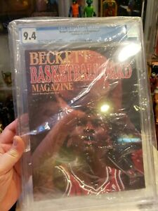 Michael Jordan Issue #1 Beckett Basketball Card March/April 1990 GRADED CGC 9.4