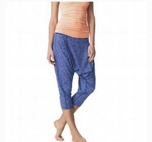 SWEATY BETTY Marl Blue Harem Style 3/4 length Yoga Fittnes Trousers Size M