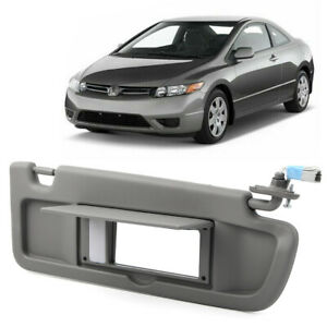 Car Sun Visor Sun Shade Sunshade Cover w/ Mirror For Honda Civic 2006 - 2011 10