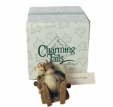 Charming Tails figurine fitz floyd Box mouse anthropomorphic Heading Slopes ski