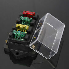 12V/24V CAR TRUCK 4 WAY CIRCUIT ATO ATC STANDARD BLADE FUSE BOX HOLDER +4pc Hi-Q