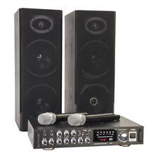 LTC KARAOKE IMPIANTO AUDIO 200 W USB SD 2x Wireless Mic