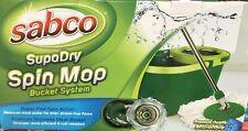 Sabco SupaDry Spin Mop & Bucket Set Supa fast spin action removes more dirt