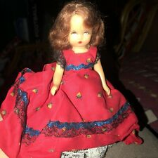 Vintage Nancy Ann Story Book Doll With Sleeping Eyes Red Hai