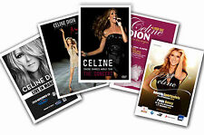 CELINE DION - SET OF 5 - A4 POSTER PRINTS # 1