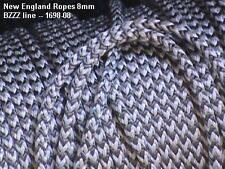 8mm BZZZ Rope White/Grey,  per 10-ft. 1698-08 - great for mainsheet