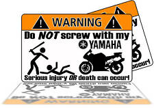 Yamaha Motorcycle Warning sticker decal R1 R6 FZR Sport