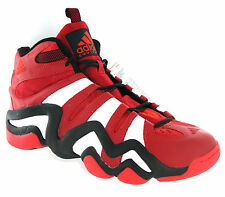 Chaussure Baskets Homme Adidas Rouge Basketball Cuir Rare Taille 50