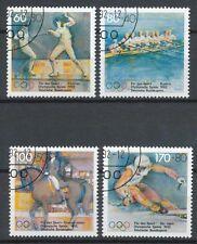 Bundespost 1592-1595 gestempeld motief sport