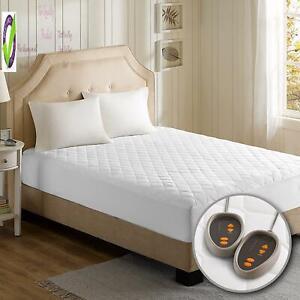 Beautyrest Cotton Blend Heated Mattress Pad Secure Comfort Technology-Luxury Qui