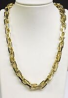 "10k Solid Yellow Gold Handmade Link Men's chain/necklace 22"" 200 grams 10.5MM"